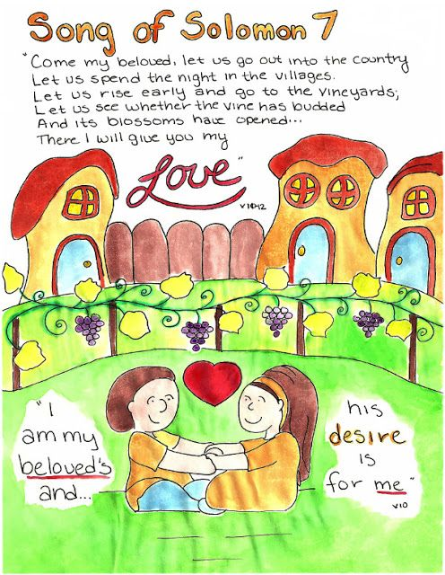 Doodle Through The Bible_ Song of Solomon 7 Faith Journal entry for Good Morning Girls (GMG) Bible Study, Free printable PDF Coloring page link at the website_ Also visit the new FACEBOOK page!